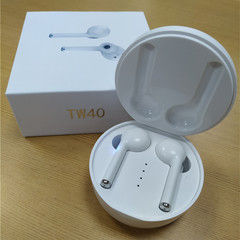 New Bluetooth Earphone Wireless Sports Earpiece Double Ear Touch Headsets Headphone 30 Days Standby white one size
