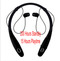 Bluetooth Headsets Neck Mounted Sports Earphone 200 Hours Standby Time Earpiece Headphone for Phone black one size