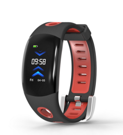 Waterproof Smart Watch Bluetooth Sprot  Watches for man women Swming Running with Pedometer Black+Red normal