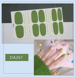 nail art Korean version of nail sticker, butter, flower, all types of patterns are cheap DA261(10 pieces)