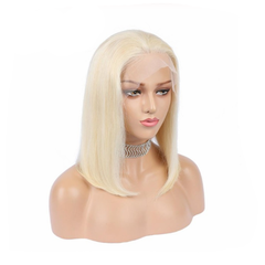 150% Lace Front Human Hair Wig 613 Blonde Bob Wigs Grey Brazilian Pink Straight Ombre 13X4 Remy Wigs #613 blonde 8''