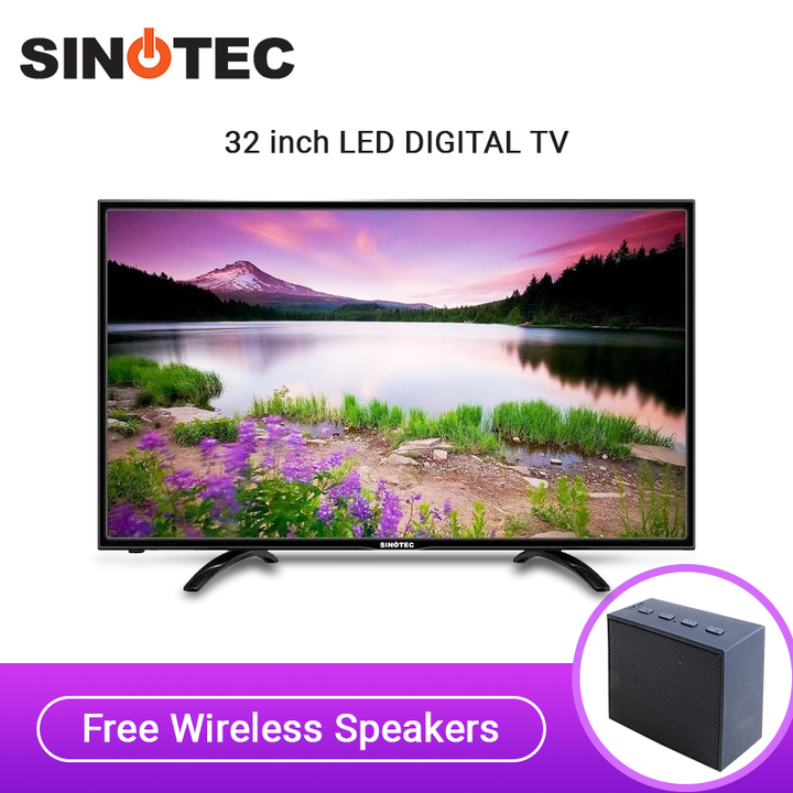 Sinotec LED 32VN80D DIGITAL TV WITH INBUILT DVB-T2/S2 Black 32 inch