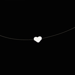 Female Transparent Fishing Line Necklace Silver Invisible Chain Necklace  Rhinestone Choker Necklace heart 40CM