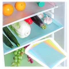 4pcs/set Silicone Fridge Mats A Rugs In The Fridge Refrigerator Table Mat On The Dining Table As picture 4pcs(45*30)