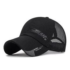 Summer Baseball Caps Men Letter Mesh Caps Women Men Breathable Unisex Hat Outdoor Hip-Hop Bone Black adjustable size