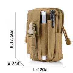 Outdoor Camping Bags Molle Backpack Waist Belt Wallet Pouch Purse Phone Case Climbing Military Bag Green
