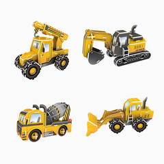 Paper 3D Engineering Vehicle Series Jigsaw Puzzle yellow one size