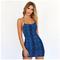 Dress Women Summer New snake dress strap dress xl Blue