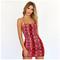 Dress Women Summer New snake dress strap dress xl red