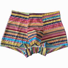2019 Hot sale 2 pcs suit Men's Ice Silk ventilate High Elastic Flat Angle Underpants Picture color XL-50-60 kg