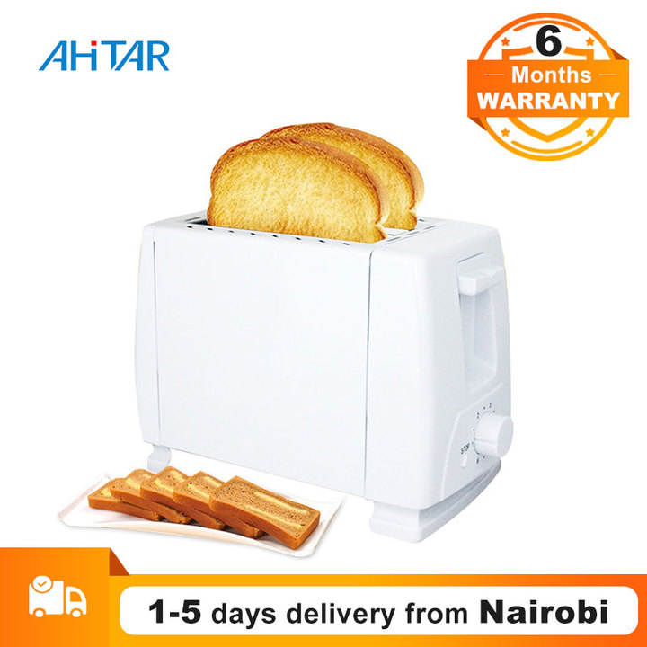Ahitar Toaster 2 Slice 6 Gear Household Automatic Bread Sandwich Grill Oven Maker Breakfast Machine White