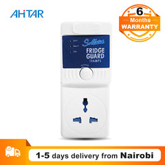 Ahitar 13A Fridge Guard Blue Under Voltage Protector Switcher Socket for Fridges, Freezers & Coolers