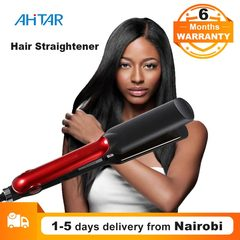 Ahitar Electric Hair Straightener Tourmaline Ceramic Heating Plate Thermal Performance Fast Warm-up AHITAR BLACK