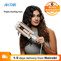 Ahitar Professional Electric Curling Iron Ceramic Triple Barrel Hair Styler Curler Waver Styling AHITAR BLACK