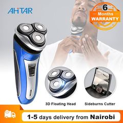 Ahitar 3D Triple Floating Rechargeable Electric Shaver for Men Sharp Barbeador Razors Beard Trimmer AHITAR BLACK