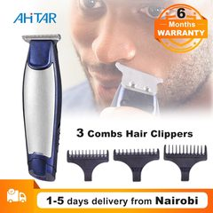 Ahitar 3 In 1 Rechargeable Electric Trimmer Cordless Hair Clipper Razor Balding Machine Beard Shaver AHITAR BLACK