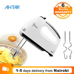 Ahitar 7 Speed Egg Beater Electric Food Blender Mixer Hand Dough Eggs Stirrer Beaters Kitchen Tool White one size