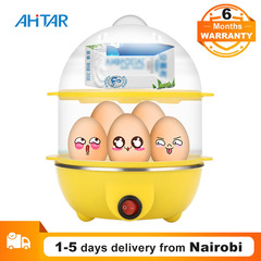 Ahitar Egg Cooker 14 Egg Capacity Electric Double Layer Eggs Boiler Food Steamer Maker Auto Shut Off Pink one size