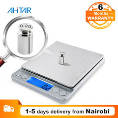 Ahitar 2000g Electronic Kitchen Scale Digital Food Stainless Steel Weighing Scale Precision Jewelry as show one size