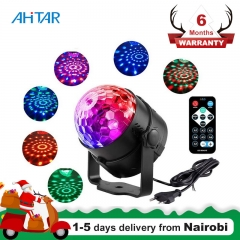 Ahitar LED Magic Ball 7 Modes RGB Sound Activated Light Remote Control Projector Lamp Party Club Pub as show as show 3W