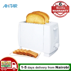 Ahitar Toaster 2 Slice Bread 6 Gear Sandwich Household Automatic Grill Oven Maker Breakfast Machine White