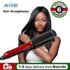 Ahitar Electric Hair Straightener Tourmaline Ceramic Heating Plate Thermal Performance Fast Warm-up AHITAR BLACK
