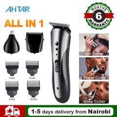Ahitar 3 in 1 Rechargable Balding Machine Electric Shaver Trimmer Nose Eyebrows Beard Hair Clipper AHITAR BLACK