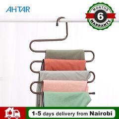 Ahitar 1PC S-Shaped Clothes Hanger Holder Pants Hangers Closet Trouser for Scarf Kids Hanging Random