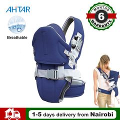 Ahitar 0-36 Months Baby Carrier Breathable Front Facing Infant Comfortable Wrap Sling Travel Hood Blue one size