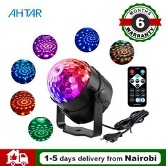 Ahitar LED Stage Disco Lights Crystal Magic Ball Light 7 Modes RGB Sound Lighting  Lamp Party Club as show as show 3W