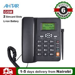 GSM Telephone Wireless Desktop Corded Phone 6588 Extension Dual SIM Slot Radio for Office Home Hotel as show