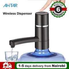Ahitar Electric Water Pump Wireless Dispenser Portable USB Rechargeable for Drinking Water Bottle