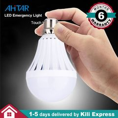 B22 9W 7W Rechargeable LED Bulb Emergency Light for Black out Intelligent - 4 Hr Back up Pin type White as show 7W