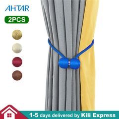 Ahitar 1PC Blackout Window Curtain Tie Backs Printed Star Darkening Curtains Kids Bedroom Grommet Blue/pair(for Holder) for Curtain Holder