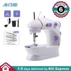 Ahitar Mini Sewing Machine Portable Hand Foot Pedal Needles for Home Household Kids Sewing Machine