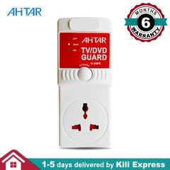 13A TV Guard Red Over Voltage Switcher Socket Protector for TVs, Media, Computers Monitors Default