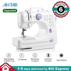 Mini Sewing Machine Portable 505A Electric Tool 12 Stitches Foot Pedal 2 Speeds Thread Household Kid Sewing Machine