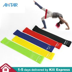 5PCS/set Resistance Bands Exercise Loop Bands Yoga Stretch Training Home Gym Fitness Mixed 5pcs/lot
