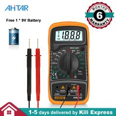 AN8205C Digital Multimeter DMM AMP AC DC Voltage Ammeter Capacitance Voltmeter Tester Battery Default