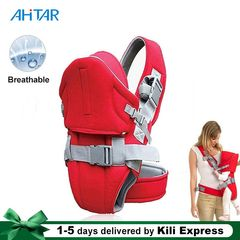 Ahitar 0-36 Months Baby Carrier Breathable Front Facing Infant Comfortable Wrap Sling Travel Hood RED one size