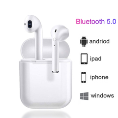 Oserate Bluetooth 5.0 Wireless Mini Earphones i9s Stereo Headset 2Earbuds with Charging Case white