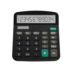 12-Digit Solar Battery Basic Calculator,Solar Battery Dual Power with LCD Display Office Calculators black