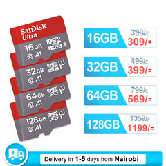 Sandisk Memory Card U1 Class10 Micro SD Card with Adapter 32GB 64GB 128GB SDXC SDHC Flash TF Card black SANDISK 64GB