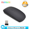 Oserate Fashion Slim 2.4GHz Optical Wireless Mouse with Cordless USB Receiver for Laptop PC Computer black one size