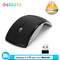 Wireless Mouse Foldable Arc Optical Cordless Mice with USB Receiver for PC Laptop Notebook Computer Black one size