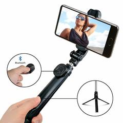 Selfie Stick Tripod Mini Extendable Selfie Stick Phone Tripod Stand with Wireless Bluetooth Remote Black one size