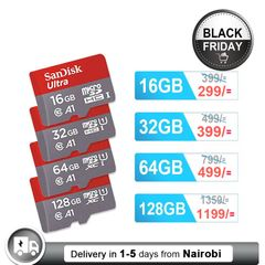 Sandisk Memory Card U1 Class10 Micro SD Card with Adapter 32GB 64GB 128GB SDXC SDHC Flash TF Card black SANDISK 32GB
