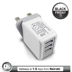 3USB British Charger UK Plug Adapter with Quick Large Current Direct Charging white charger 1