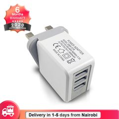 3 USB British Charger UK Plug Adapter with Quick Large Current Direct Charging white charger 1