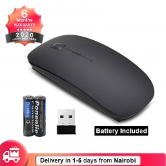 Oserate Fashion Slim 2.4GHz Optical Wireless Mouse with Cordless USB Receiver (Battery Included) black one size
